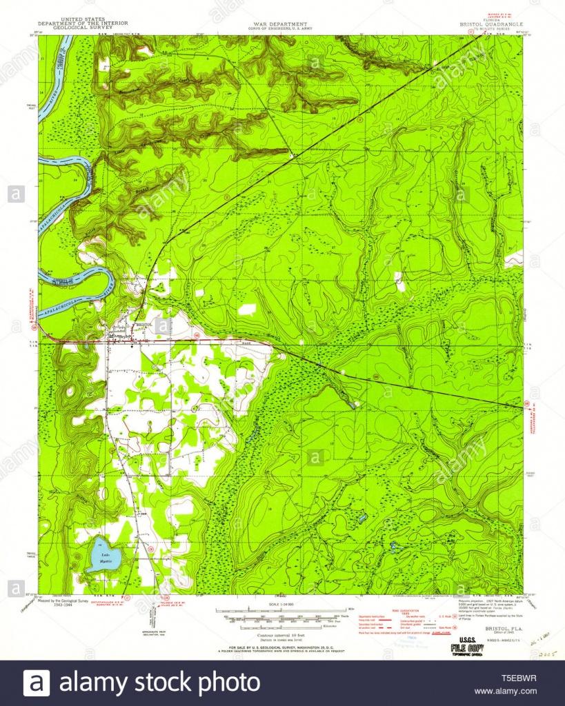 Usgs Topo Map Florida Fl Bristol 345314 1945 24000 Restoration Stock - Bristol Florida Map