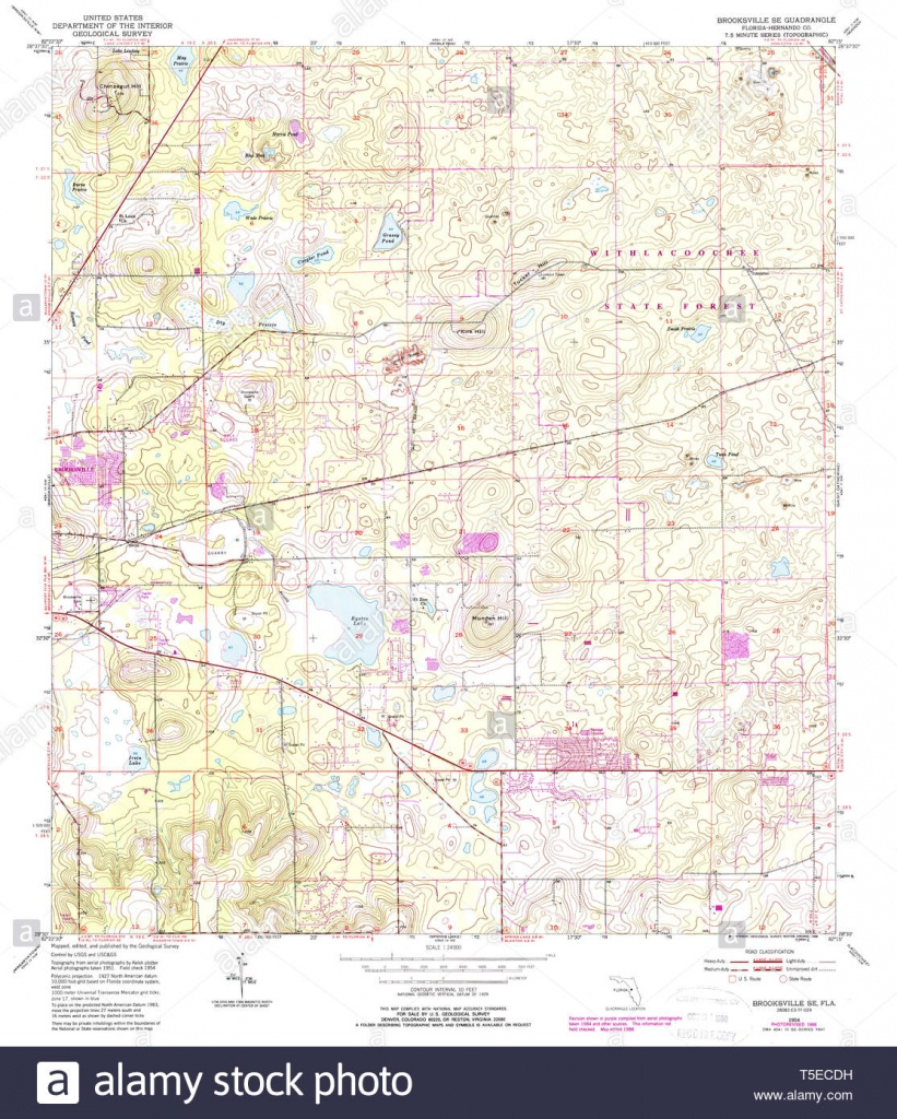 Usgs Topo Map Florida Fl Brooksville Se 345348 1954 24000 - Brooksville Florida Map