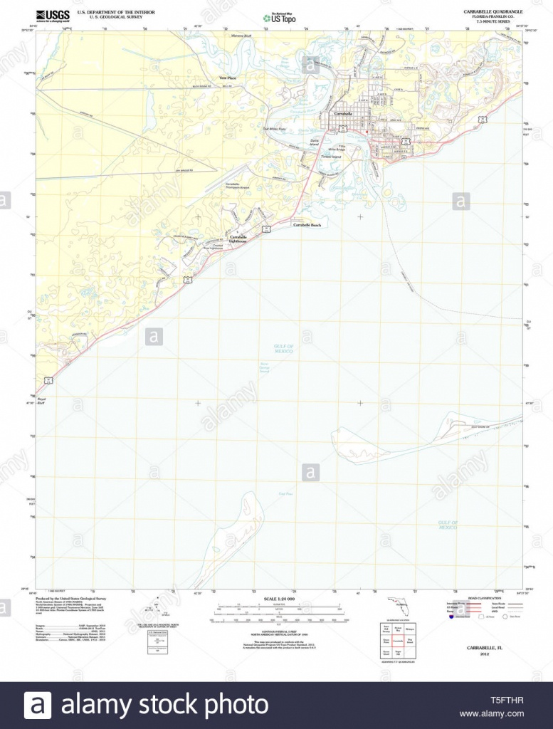 Usgs Topo Map Florida Fl Carrabelle 20120706 Tm Restoration Stock - Carrabelle Florida Map