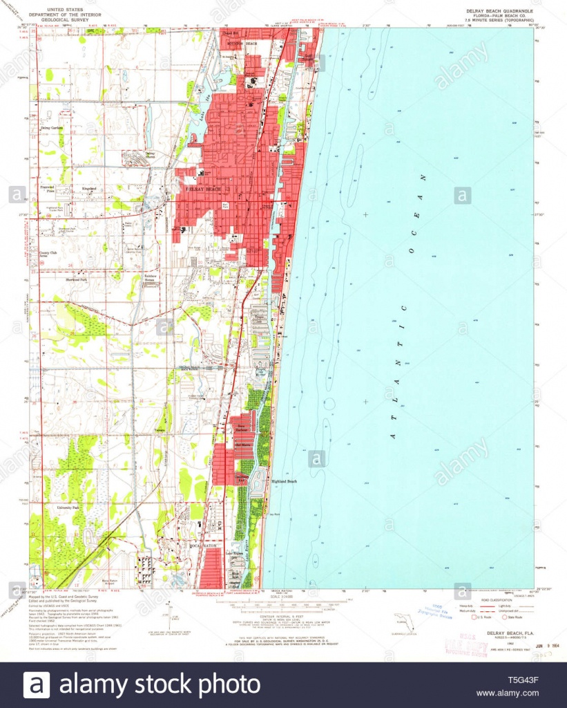 Usgs Topo Map Florida Fl Delray Beach 345827 1962 24000 Restoration - Highland Beach Florida Map