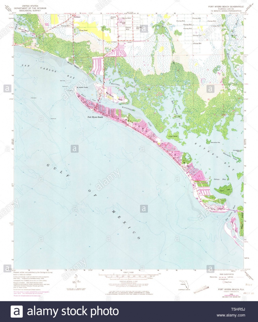 Usgs Topo Map Florida Fl Fort Myers Beach 346280 1958 24000 - Map Of Fort Myers Beach Florida