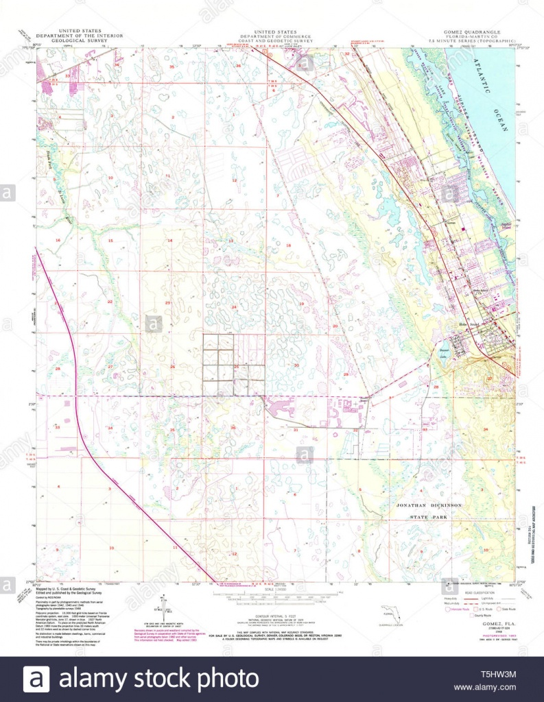 Usgs Topo Map Florida Fl Gomez 346456 1948 24000 Restoration Stock - Usgs Topographic Maps Florida