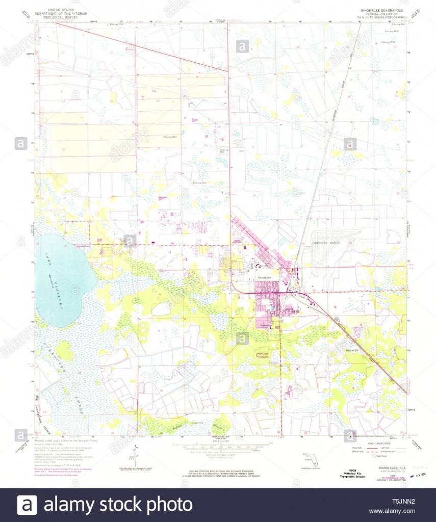 Usgs Topo Map Florida Fl Immokalee 346716 1958 24000 Restoration - Immokalee Florida Map