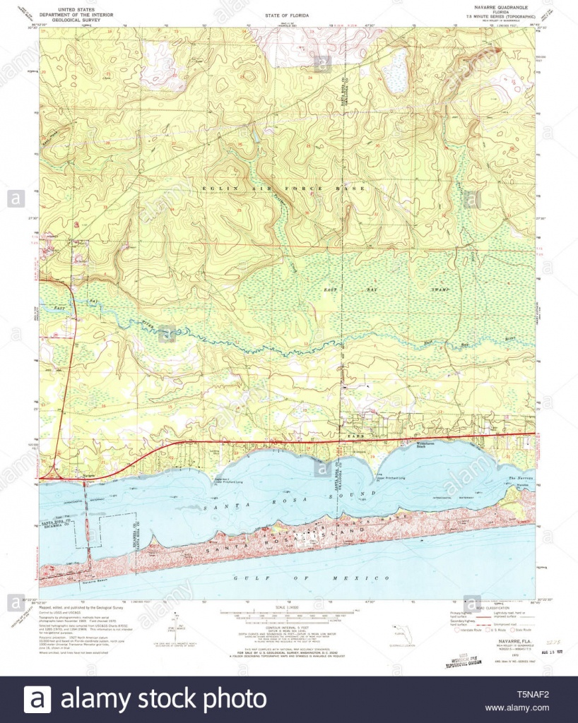 Usgs Topo Map Florida Fl Navarre 347637 1970 24000 Restoration Stock - Navarre Florida Map