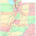 Utah Printable Map   Utah Road Map Printable