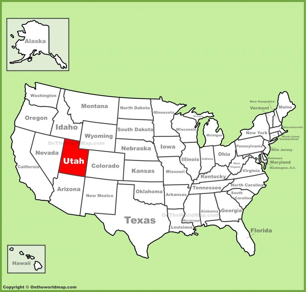 Utah State Maps | Usa | Maps Of Utah (Ut) - Utah State Map Printable