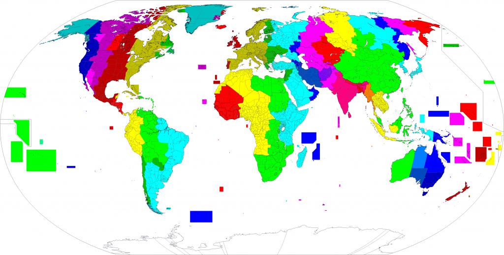 Utc±00:00 - Wikipedia - World Map Time Zones Printable Pdf