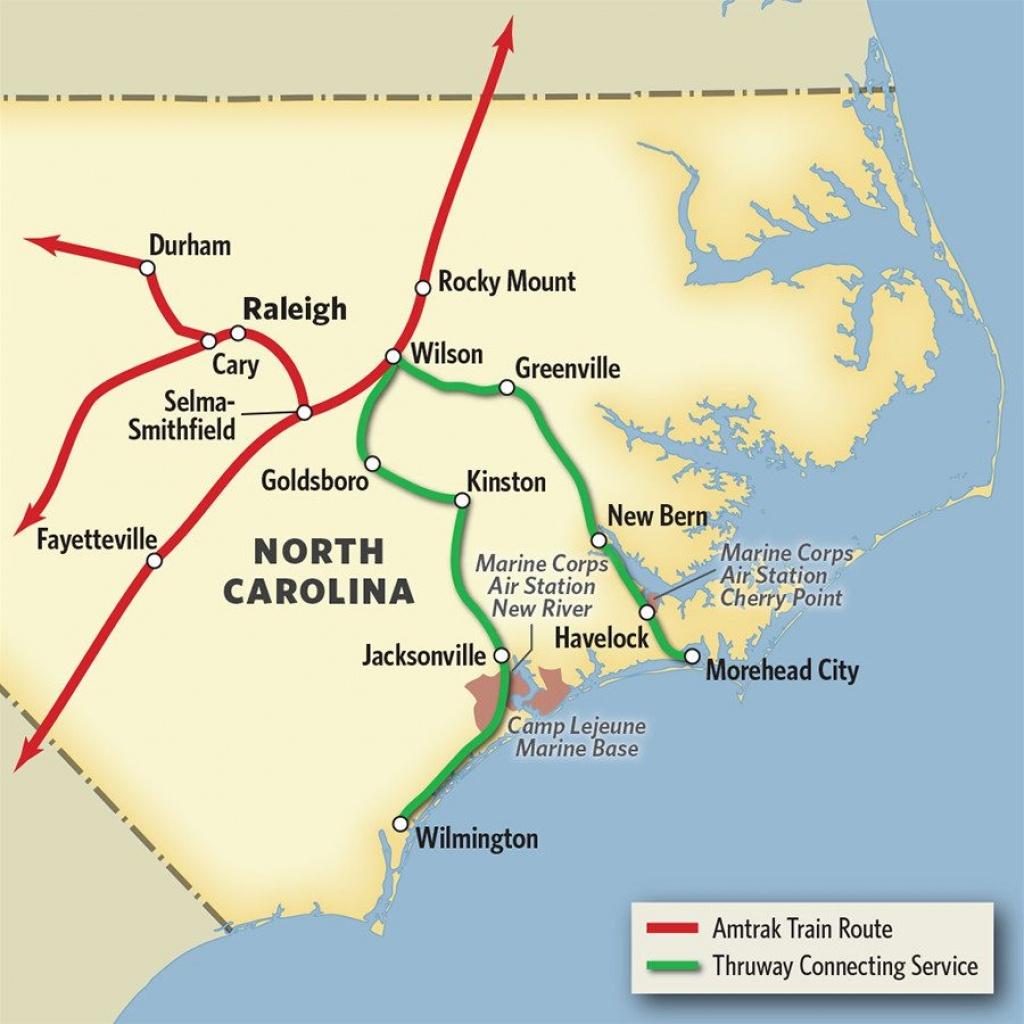 Vacations In North Carolinatrain & Thruway Bus   Amtrak - Amtrak Station Map California