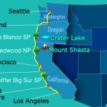 Valuable Tips For Planning A Drive From Seattle To Los Angeles   Seattle To California Road Trip Map
