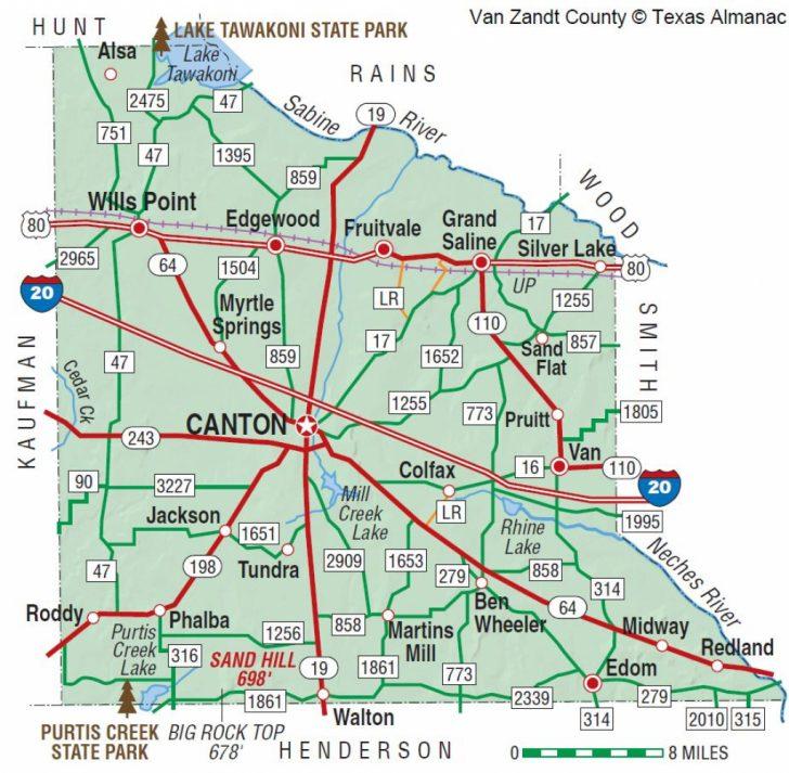 Canton Texas Map