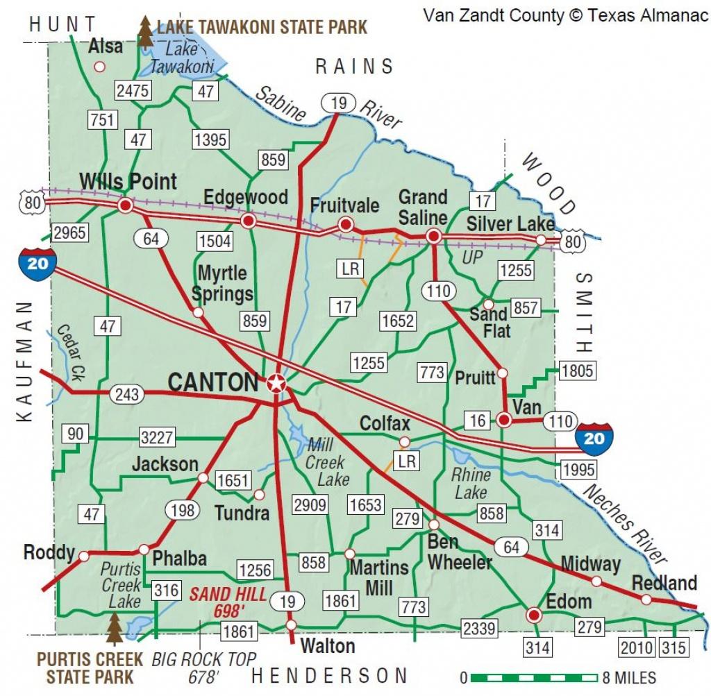 Van Zandt County   The Handbook Of Texas Online  Texas State - Canton Texas Map