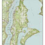 Vashon Island Ca. 1949 Usgs Old Topographic Map Custom | Etsy   Vashon Island Map Printable