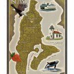 Vashon Island, Washington   Map Laminated Printlantern Press   Vashon Island Map Printable