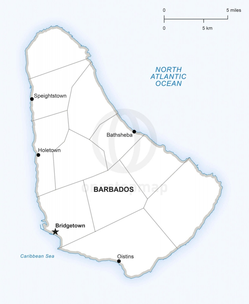 Vector Map Of Barbados Political   One Stop Map - Printable Map Of Barbados