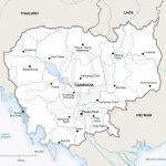 Vector Map Of Cambodia Political | One Stop Map   Printable Map Of Cambodia