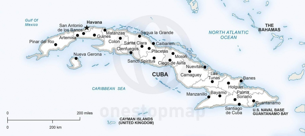 Vector Map Of Cuba Political | One Stop Map - Printable Map Of Cuba