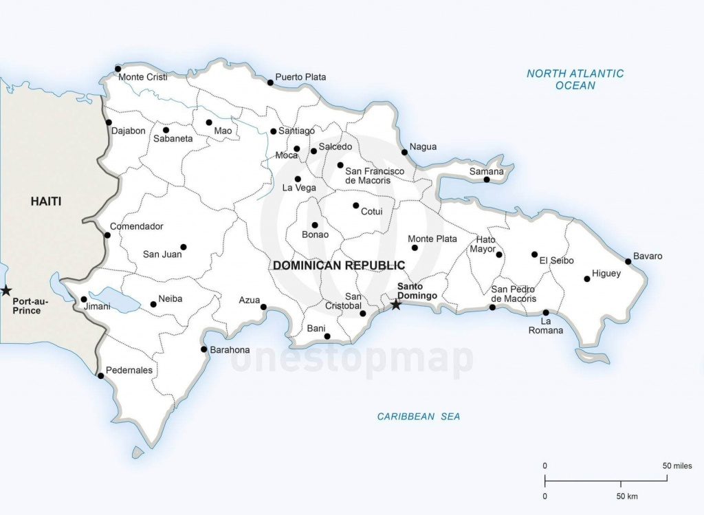Vector Map Of Dominican Republic Political | One Stop Map - Printable Map Of Dominican Republic