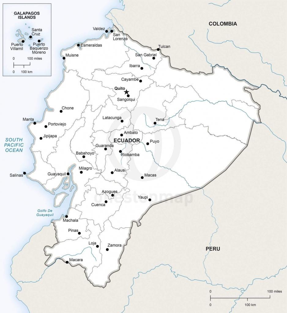 Vector Map Of Ecuador Political | One Stop Map - Printable Map Of Ecuador