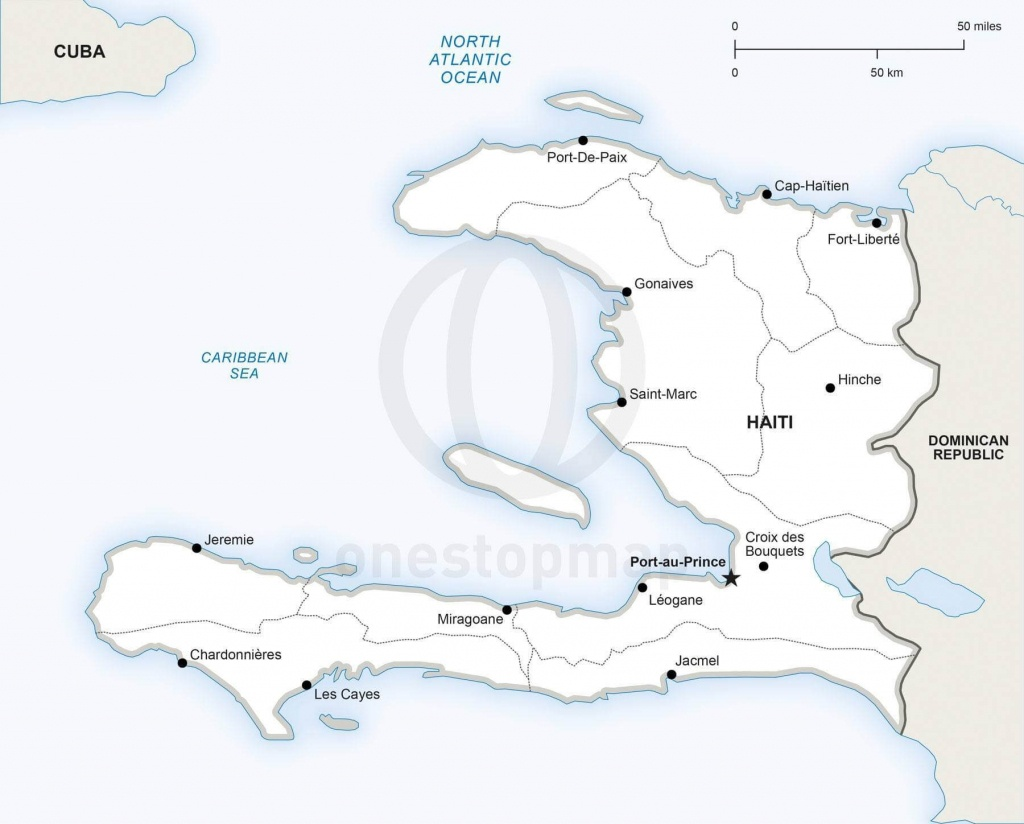 Vector Map Of Haiti Political | One Stop Map - Printable Map Of Haiti