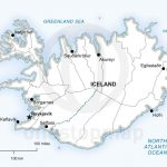 Vector Map Of Iceland Political | Maps Of Europe   Continent   Printable Map Of Greenland