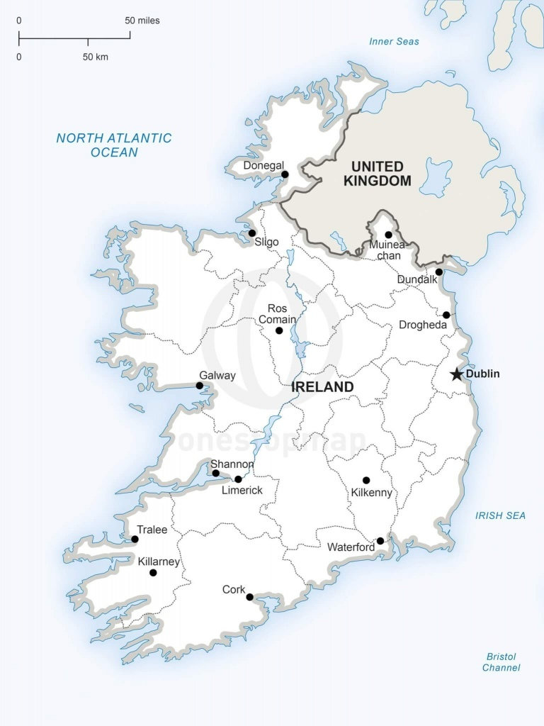 Vector Map Of Ireland Political | One Stop Map - Printable Map Of Ireland