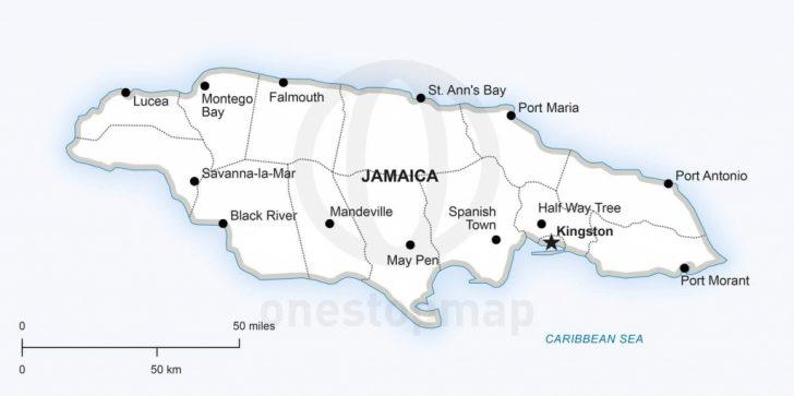 Printable Map Of Jamaica