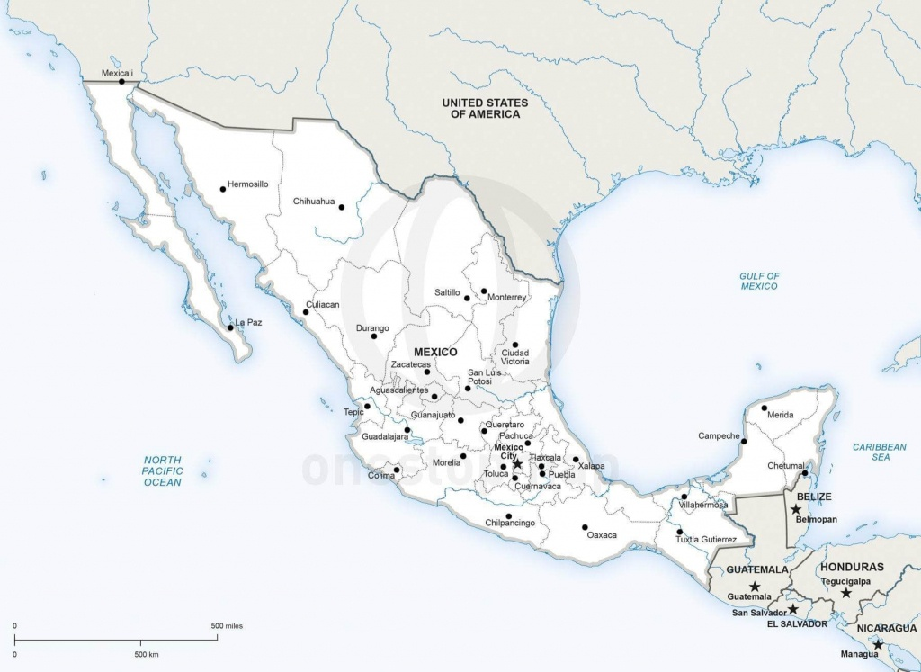 Vector Map Of Mexico Political | One Stop Map - Printable Map Of Mexico