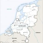 Vector Map Of Netherlands Political | One Stop Map   Printable Map Of The Netherlands