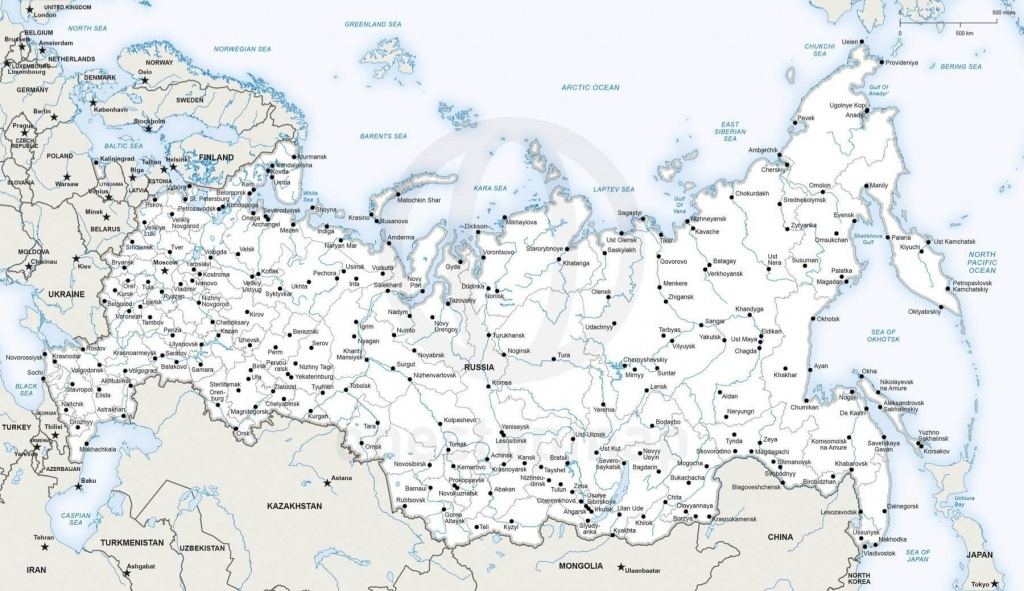 Vector Map Of Russia Political   One Stop Map - Free Printable Map Of Russia