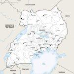Vector Map Of Uganda Political | One Stop Map   Printable Map Of Uganda