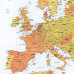 Vector Map Western Europe Roads Ferries | One Stop Map   Printable Map Of Western Europe