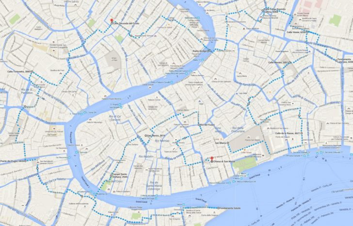Printable Walking Map Of Venice Italy