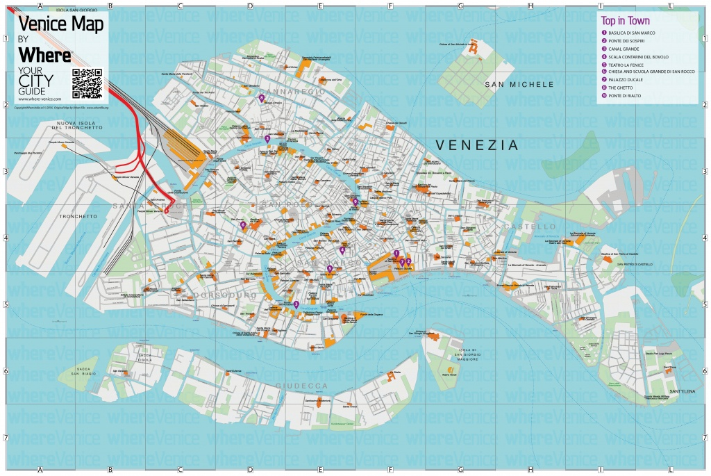Venice City Map - Free Download In Printable Version   Where Venice - Tourist Map Of Venice Printable