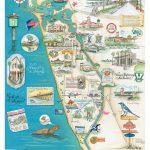 "Venice Fl ""Island Of Venice"" Map   Map Of Florida Art"