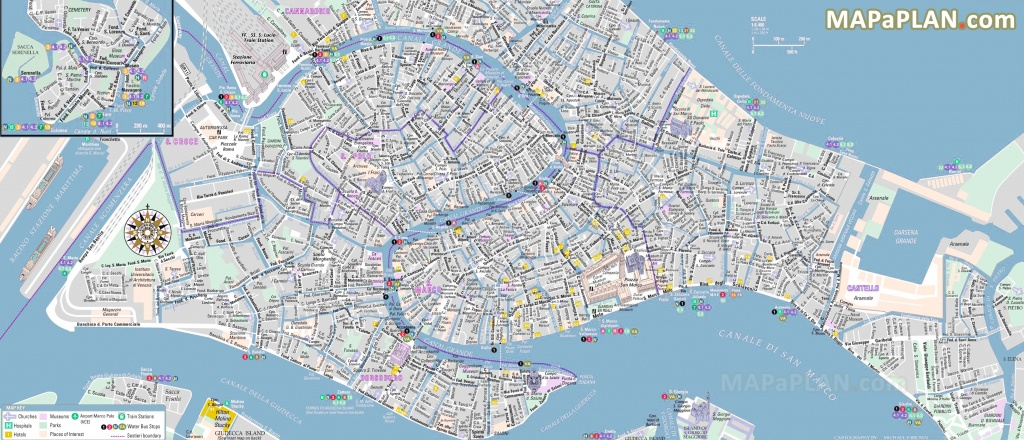 Venice Maps - Top Tourist Attractions - Free, Printable City Street Map - Venice Street Map Printable