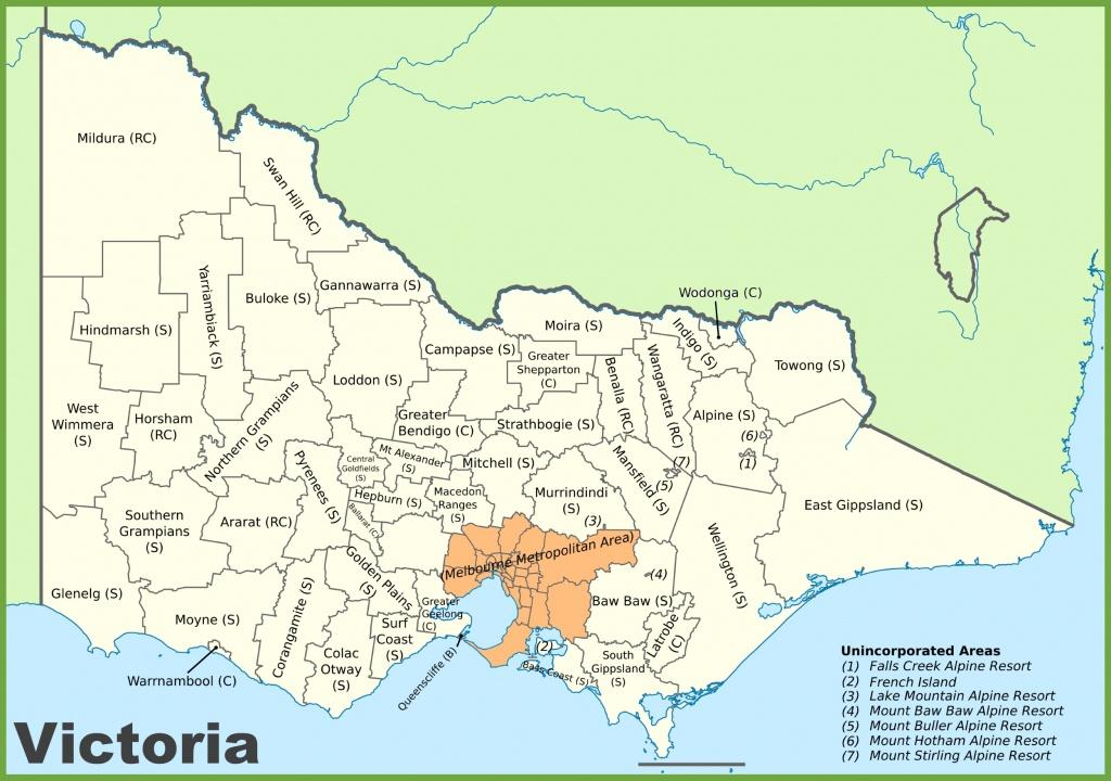 Victoria State Maps | Australia | Maps Of Victoria (Vic) - Printable Map Of Victoria Australia