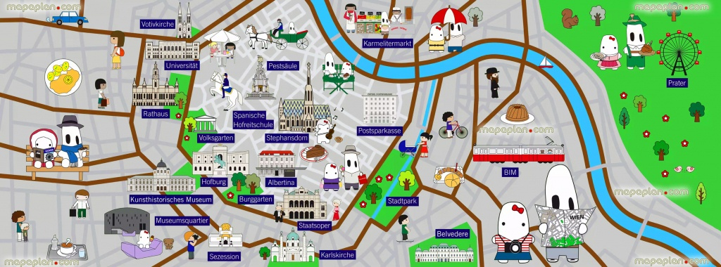 Vienna Map - Colourful Map For Children - Great Family Things To Do - Printable Travel Maps For Kids