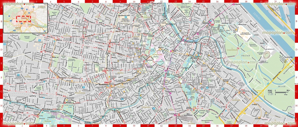Vienna Map - Detailed, Printable, High Quality Road Guide & Street - Printable Travel Map