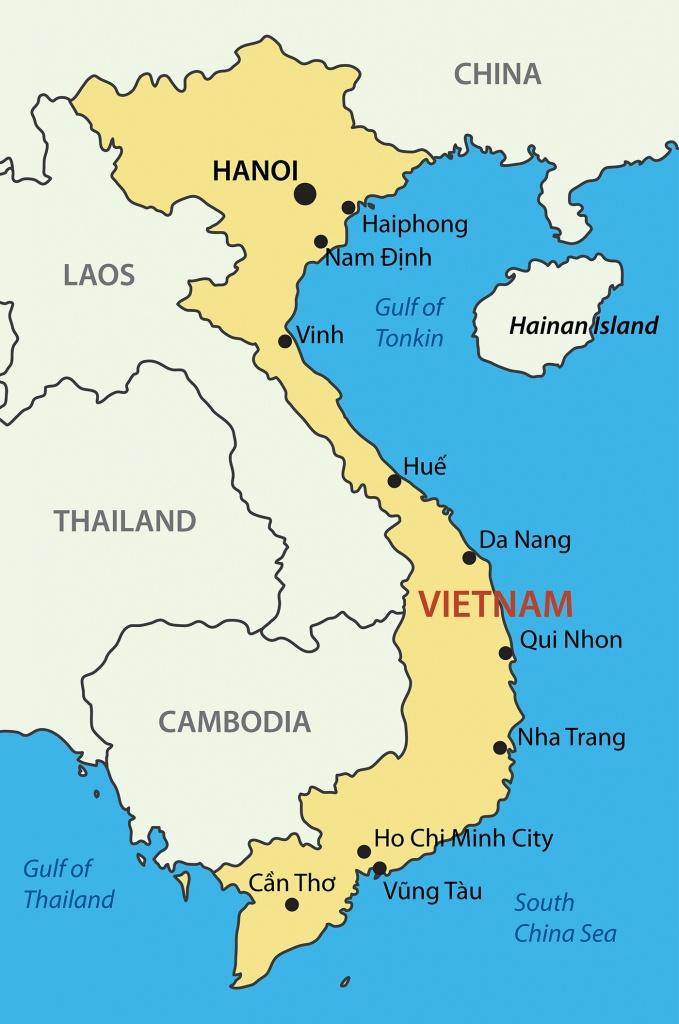 Vietnam Maps - Map Of All Areas In Vietnam - Printable Map Of Vietnam