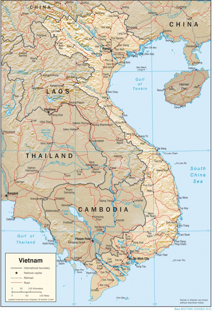 Vietnam Maps - Perry-Castañeda Map Collection - Ut Library Online - Printable Map Of Vietnam
