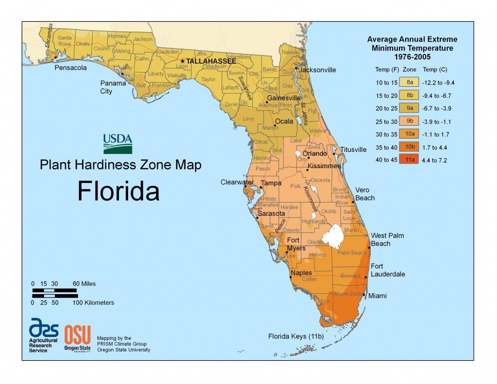 View Maps   Usda Plant Hardiness Zone Map   Garden Zones   Florida - Florida Growing Zones Map