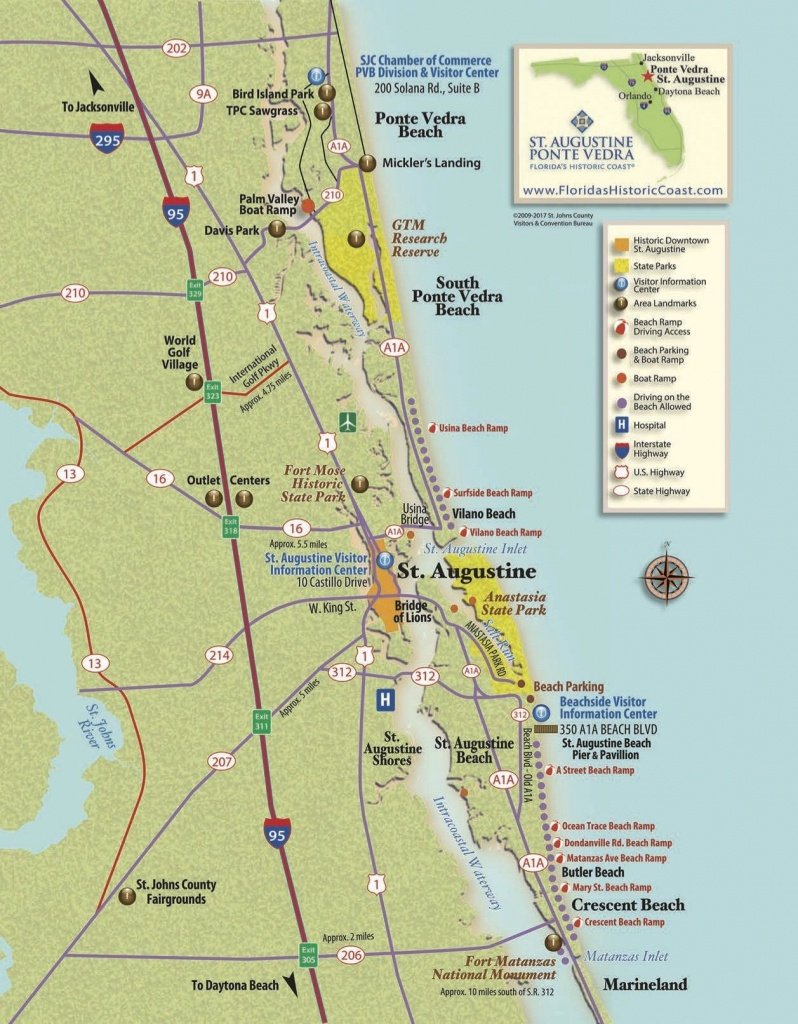 View St. Augustine Maps To Familiarize Yourself With St. Augustine - Ponte Vedra Florida Map