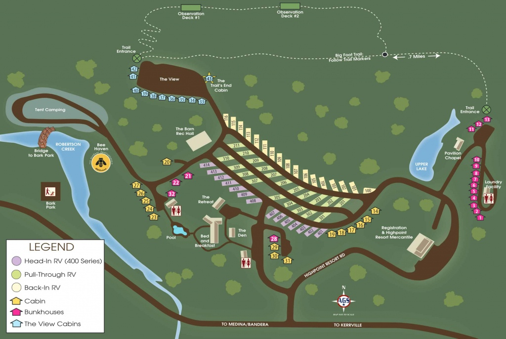 View The Property Map | Medina Highpoint Resort Of Texas - Texas Property Map