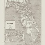 Vintage Florida Map Vintage Florida Wall Art Antique   Etsy - Vintage Florida Map Poster