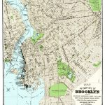 Vintage Guide Map And Directory Of Brooklyn From 1883   Knowol   Printable Map Of Brooklyn
