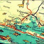 Vintage Map Art Of Destin Florida 8X10 Retro Map Ft Walton Beach   Florida Map Destin Fl