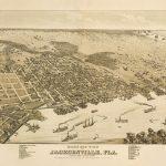 Vintage Map   Jacksonville, Florida 1876 | Chelsea's Things | Map Of   Old Maps Of Jacksonville Florida