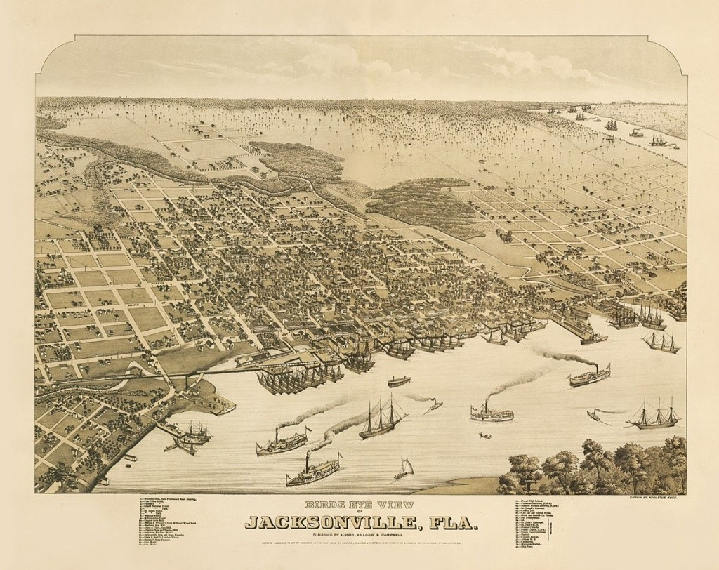 Vintage Map - Jacksonville, Florida 1876 | Chelsea's Things | Map Of - Old Maps Of Jacksonville Florida