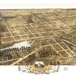 Vintage Map Of Naperville, Illinois 1869   Ted's Vintage Art   Printable Map Of Naperville Il