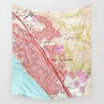 Vintage Map Of San Clemente California (1968) Wall Tapestry – San Clemente California Map